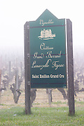 sign fog chateau grand barrail lamarzelle figeac saint emilion bordeaux france