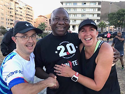 Cyril Ramaphosa seen out on his morning run before being sworn in as the new President of South Africa.