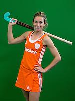 DEN BOSCH -  ELLEN HOOG . Nederlands Hockeyteam  voor nieuwe platform Hockey.nl.    FOTO KOEN SUYK