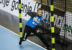 Klemen Ferlin of RK Gorenje during handball match between RK Gorenje Velenje (SLO) and Pfadi Winterthur (SUI) in Group Phase of EHF European Cup 2014/15, on March 8, 2015 in Rdeca dvorana, Velenje, Slovenia. Photo by Vid Ponikvar / Sportida