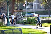 Kids Riding Bikes at George Washington Park in Anaheim