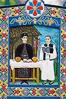 "Roumanie, Maramures, Sighetu Marmatiei, cimetière ""joyeux"" de Sapinta. // Romania, Maramures, Sapanta, Merry Cemetery, Painted graves"