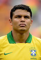 Fifa Brazil 2013 Confederation Cup / Group A Match /<br /> Brazil vs Japan 3-0  ( National / Mane Garrincha Stadium - Brasilia , Brazil )<br /> THIAGO SILVA of Brazil , during the match between Brazil and Japan