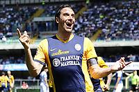 esultanza gol Luca Toni Hellas Goal celebration <br /> Verona 10-05-2015 Stadio Bentegodi Football Calcio Serie A 2014/2015 Chievo Verona - Hellas Verona foto Daniele Buffa/Image Sport/Insidefoto