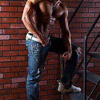 Body builder studio shoot