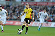 Sebastian Prodl of Watford in action. Premier league match, Swansea city v Watford at the Liberty Stadium in Swansea, South Wales on Saturday 22nd October 2016.<br /> pic by  Andrew Orchard, Andrew Orchard sports photography.