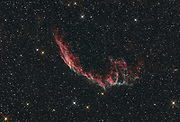 """Network Nebula (NGC 6992, also known as """"eastern Veil Nebula"""") in constallation Cygnus is a supernova remnant from a start 20 times more massive than the Sun exploding 10-20 000 years ago."""