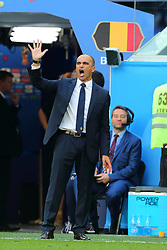 July 14, 2018 - St. Petersburg, Russia - July 14, 2018, St. Petersburg, FIFA World Cup 2018, Football match for the third place in the World Cup. Football match of Belgium - England at the stadium of St. Petersburg. Roberto Martinez. Head coach of the national team of Belgium Roberto Martinez. (Credit Image: © Russian Look via ZUMA Wire)