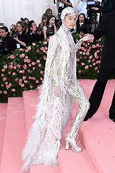 """Gigi Hadid at the 2019 Costume Institute Benefit Gala celebrating the opening of """"Camp: Notes on Fashion"""".<br />(The Metropolitan Museum of Art, NYC)"""