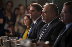 April 26, 2018 - Washington, District of Columbia, U.S. - Defense Secretary meets with Israeli Defense Minister AVIGDOR LIEBERMAN at the Pentagon. Lieberman and Mattis discussed particularly heightened tensions between Iran, Israel, and the US.(Credit Image: ? US Navy/DOD via ZUMA Wire/ZUMAPRESS.com)