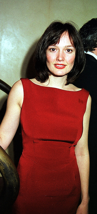 TV presenter KATY HASWELL at a dinner in London on 17th February 2000.<br /> OBE 25