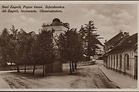 Stari Zagreb, Popov toran. Zvjezdarnica = Alt-Zagreb, Sternwarte. Observatorium. <br /> <br /> ImpresumZagreb : Naklada S. Marković, 1927.<br /> Materijalni opis1 razglednica : tisak ; 8,8 x 13,8 cm.<br /> NakladnikNaklada S. Marković<br /> Mjesto izdavanjaZagreb<br /> Vrstavizualna građa • razglednice<br /> ZbirkaGrafička zbirka NSK • Zbirka razglednica<br /> Formatimage/jpeg<br /> PredmetZagreb –– Ilirski trg<br /> SignaturaRZG-ILIR-1<br /> Obuhvat(vremenski)20. stoljeće<br /> NapomenaRazglednica nije putovala.<br /> PravaJavno dobro<br /> Identifikatori000954191<br /> NBN.HRNBN: urn:nbn:hr:238:332429 <br /> <br /> Izvor: Digitalne zbirke Nacionalne i sveučilišne knjižnice u Zagrebu