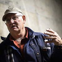 Joe Lister, Mine Manager, gives a tour of Mount Taylor Mine Thursday, and talks about the daily routines miners would go through to ensure health and safety.