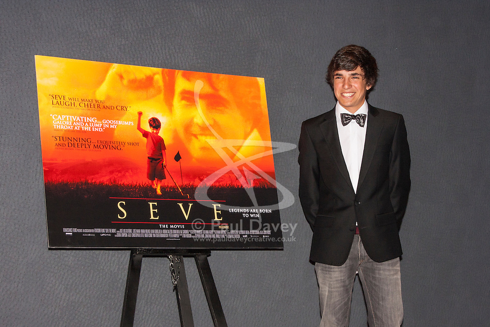 London, June 23rd 2014. Actor Jose Luis Gutierrez Real who plays a young Seve Ballesteros attends the London premiere of the film Seve, a biopic of the life of the legendary Spanish golfer.