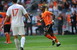 05-06-2010 VOETBAL: NEDERLAND - HONGARIJE: AMSTERDAM<br /> Nederland wint met 6-1 van Hongarije / Eljero Elia scoort de 5-1<br /> ©2010-WWW.FOTOHOOGENDOORN.NL
