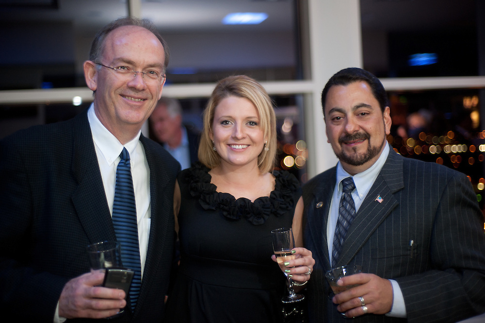 The Four Seasons Residences Austin hosted a party Friday night for current, future and prospective residents. Guests included (L-R) Barry Beazley, Natalie Sullivan and Mayor Hector Gonzales.