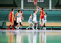 Dragana Zivkovic of Montenegro during friendly basketball match between Women National Teams of Slovenia and Montenegro, on May 21, 2021 in Arena Tri Lilije, Lasko, Slovenia. Photo by Vid Ponikvar / Sportida