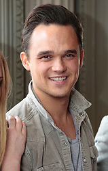 """© Licensed to London News Pictures. 16/07/2012. London, England. Pictured: Gareth Gates. On Thursday, 19th July, Gareth Gates, Jonathan Ansell, Daniel Boys, Emma Williams and Rachael Wooding perform in """"Momentous Musicals"""", a brand new concert celebration showcasing ballads and songs from musicals for one night only at the New Wimbledon Theatre, London. The show is directed by John Garfield-Roberts with musical direction by John Dyer. Photo credit: Bettina Strenske/LNP"""
