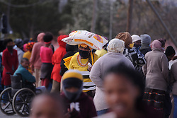South Africa - Fort Beaufort - 13 - August - 2020 -Nomalungelo Bhawusha from Newtown. Newtown township has been hit hard by corona. Gift of the givers distrubuted food  parcels to the most vulnerable in the area. Photographer Ayanda Ndamane African News Agency(ANA)
