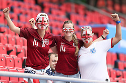 England fans before the FIFA Women's World Cup, round of Sixteen match at State du Hainaut, Valenciennes.