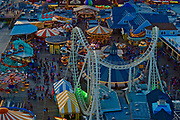 Aerial view, Morey's Pier, Wildwood Boardwalk, NJ shore