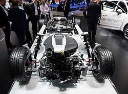 Audi G-Tron gas powered powertrain at 87th Geneva International Motor Show in Geneva Switzerland 2017