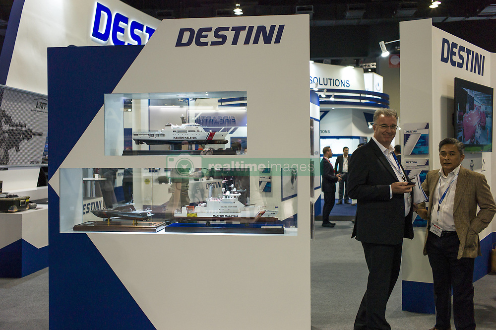 April 18, 2018 - Kuala Lumpur, Indonesia - Exhibition booth of Malaysian company, Destini is seen during the 16th Defence Services Asia (DSA) 2018 exhibition at MITEC(Malaysia International Trade & Exhibition Center) in Kuala Lumpur, Malaysia on April 18, 2018. The DSA 2018 (Defense Service Asia Exhibition) is the top 5 defense shows in the world. 1,500 companies from 60 nations and about 42,000 trade visitors from around the world participated in the exhibition. DSA 2018 will be held until April 19. (Credit Image: © Chris Jung/NurPhoto via ZUMA Press)