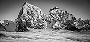 Cholatse (L) and Taweche (R) from Gokyo Ri, Everest region, Nepal