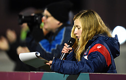 Bristol City Women's matchday announcer at Stoke Gifford Stadium - Mandatory by-line: Paul Knight/JMP - 02/12/2017 - FOOTBALL - Stoke Gifford Stadium - Bristol, England - Bristol City Women v Brighton and Hove Albion Ladies - Continental Cup Group 2 South