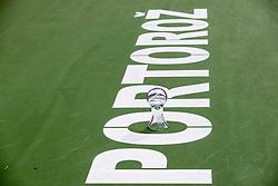 PORTOROZ, SLOVENIA - SEPTEMBER 18:   Winner's trophy at the WTA 250 Zavarovalnica Sava Portoroz at SRC Marina, on September 18, 2021 in Portoroz / Portorose, Slovenia. Photo by Vid Ponikvar / Sportida