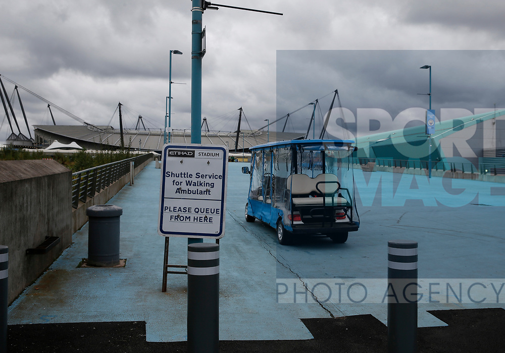 Buggies for the less mobile at Manchester City during the premier league match at the Etihad Stadium, Manchester. Picture date 22nd September 2017. Picture credit should read: Simon Bellis/Sportimage