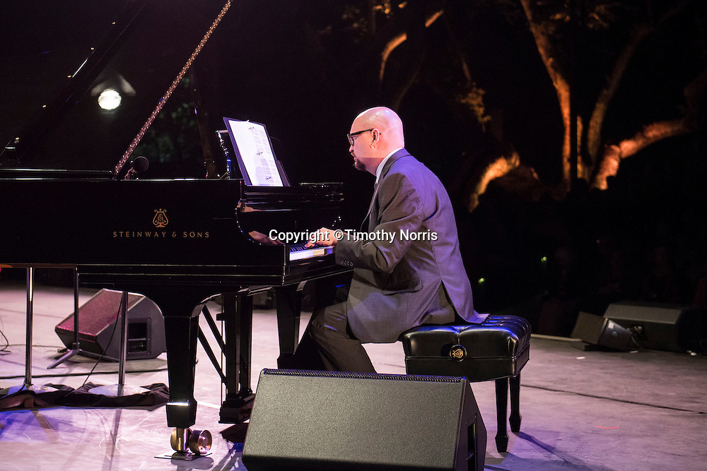 Pianist Ethan Iverson of The Bad Plus performs at Libbey Bowl on June 6, 2013 in Ojai, California.