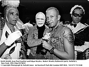 Keith Delalli, Jean Paul Gaultier and Edgar Heydra.  Robert Wooley Halloween party. Sotheby's. New York. 1993. Film 93378f19<br /> © Copyright Photograph by Dafydd Jones<br /> 66 Stockwell Park Rd. London SW9 0DA<br /> Tel 0171 733 0108