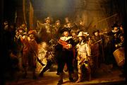 Rijksmuseum Amsterdam  National Museum Amsterdam<br /> Titel / Title: De compagnie van Frans Banning Cocq en Willem van Ruytenburch, bekend als de 'Nachtwacht' / The most famous painting the Nightwatch-<br /> Jaartal/Year:1642-<br /> Kunstenaar/Painter:Rembrandt Harmensz. van Rijn -<br /> Techniek:Olieverf op doek-<br /> Afmetingen/Size:363 x 437 cm-