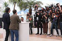 Directors Joel Coen and Ethan Coen.face photographers at the Coen brother's new film 'Inside Llewyn Davis' photocall at the Cannes Film Festival Sunday 19th May 2013