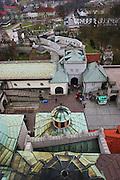 Czestochowa, Poland. Jasna Gora Monastery (Black Madonna) from top of monastery.