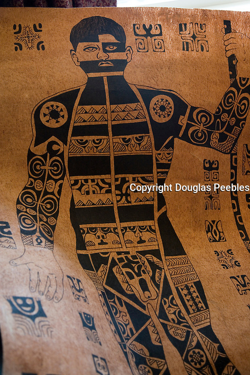Tapa cloth, Marquesas, French Polynesia<br />