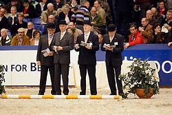 Jury: Roorveld Henk, Jilsen Dion, Van Woudenbergh Reijer<br /> KWPN Hengstenkeuring - 's Hertogenbosch 2008<br /> Photo © Hippo Foto