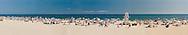 Fun at the Beach, New York, Long Island, East Hampton, Main Beach, wide panorama,