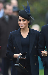 The Duchess of Sussex arriving to attend the Christmas Day morning church service at St Mary Magdalene Church in Sandringham, Norfolk.