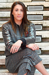 Irma Testa, the first Italian boxer woman at the Olympics during the Butterfly photocall in Rome on October 19, 2018