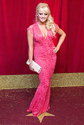 © Licensed to London News Pictures . 16/05/2015 .  The Palace Hotel , Manchester , UK . KATIE McGLYNN . The red carpet at the 2015 British Soap Awards , The Palace Hotel , Oxford Road , Manchester . Photo credit : Joel Goodman/LNP