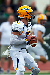 BLOOMINGTON, IL - September 28:  Zachary Fuller during a college football game between the IWU Titans and the Augustana Vikings on September 28 2019 at Wilder Field in Tucci Stadium in Bloomington, IL. (Photo by Alan Look)