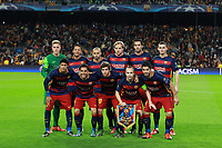 Players of FC Barcelona pose for a team picture prior to the UEFA Champions League Group E football match between FC Barcelona and Bate Borisov on November 4, 2015 at Camp Nou stadium in Barcelona, Spain. <br /> Photo Manuel Blondeau/AOP.Press/DPPI