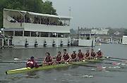 Henley, Great Britain, 2001 Henley Royal Regatta. <br /> <br /> Tel 44 (0) 7973 819 551<br /> <br /> Photo Peter Spurrier<br /> Henley Royal Regatta Sat 6th July<br /> <br /> Last Session 5.00 to 6.15   PM.<br /> <br /> <br /> <br /> Temple Seni-final<br /> <br /> Yale v Harvard - Harvard going on to win.Temple Seni-final<br /> Harvard 20010604 Henley Royal Regatta, Henley, Great Britain.