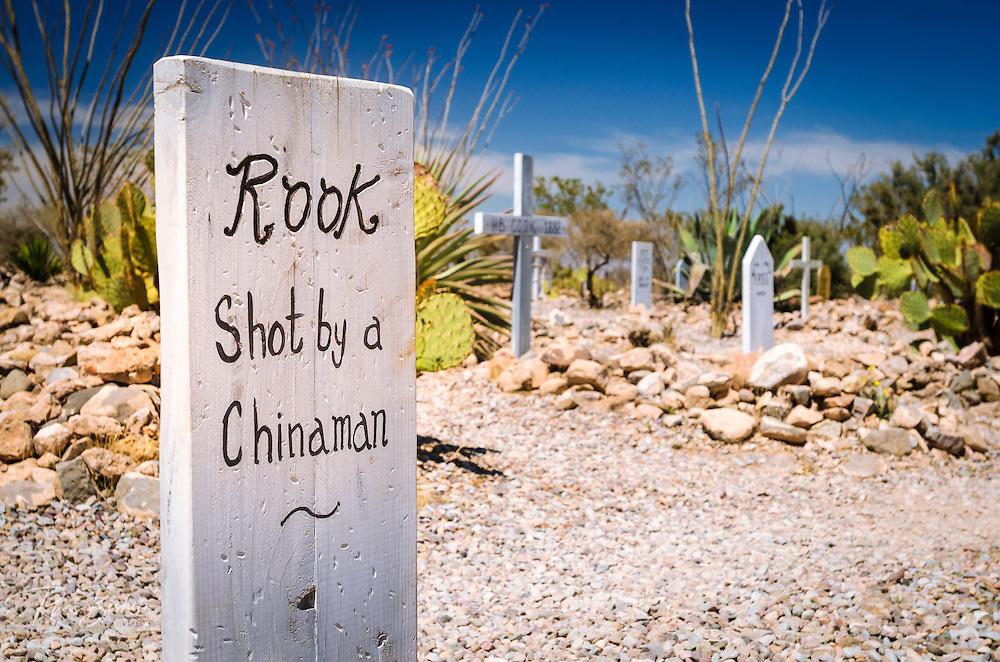 Graves at Boothill Graveyard, Tombstone, Arizona USA