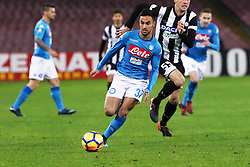 December 19, 2017 - Naples, Italy - ADAM OUNAS (SSC Napoli) during the TIM Cup match between SSC Napoli and Udinese Calcio at Stadio San Paolo on December 19, 2017 in Naples, Italy. (Credit Image: © Paolo Manzo/NurPhoto via ZUMA Press)