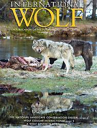 Cover International Wolf Magazine by Daryl L. Hunter