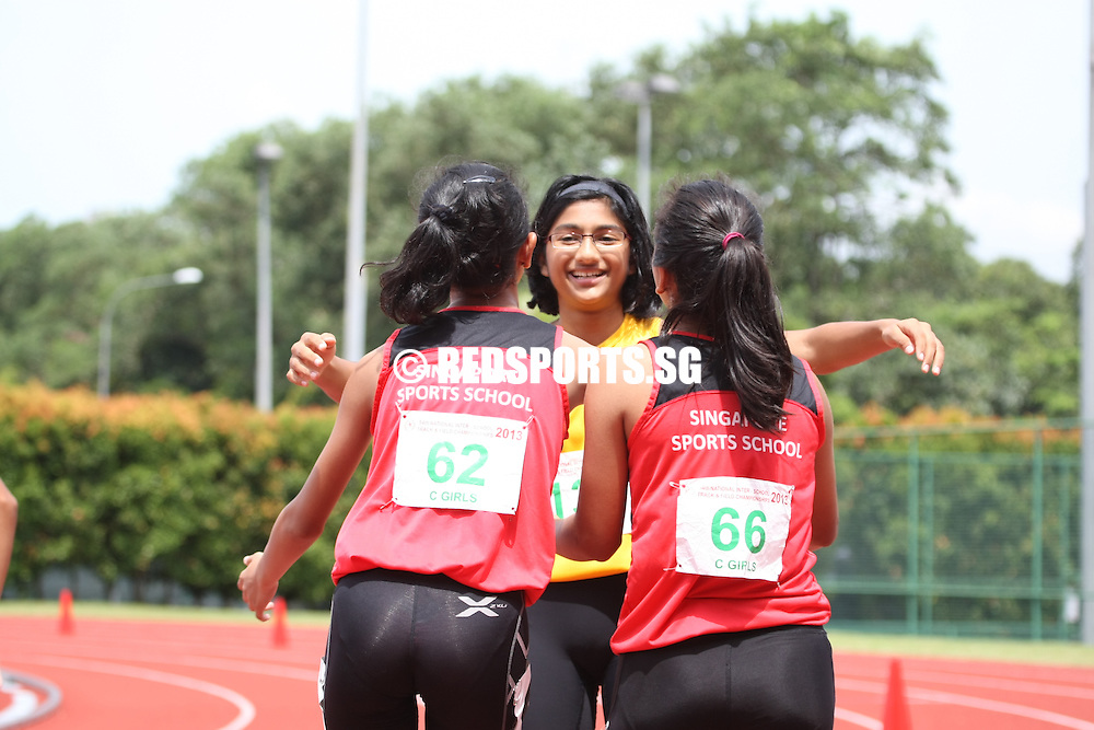 Choa Chu Kang Sports Complex, Wednesday, April 17, 2013 — Having set a new record for the C Division 200m, Ismi Zakiah Binte Kashful Anwar of Singapore Sports School was not yet done. In the C Division 100m final, Ismi attained another gold medal with a 12.76-second effort, missing out on the record by 0.02s at the 54th National Schools Track and Field Championships.<br /> <br /> Story: http://www.redsports.sg/2013/04/21/c-div-girls-100m-ismi-zakiah-singapore-sports-school/