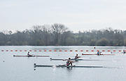 Caversham. Berkshire. UK<br /> Men's lightweight semi final A/B1 at the . Jonathe JACKSON out front at the 600m to go.<br /> 2016 GBRowing U23 Trials at the GBRowing Training base near Reading, Berkshire.<br /> <br /> Tuesday  12/04/2016<br /> <br /> [Mandatory Credit; Peter SPURRIER/Intersport-images]